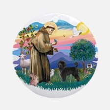 St Francis #2 / PWD (stand) Ornament (Round)