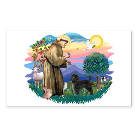 St Francis #2 / PWD (stand) Sticker (Rectangle)