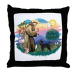 St Francis #2 / PWD (stand) Throw Pillow