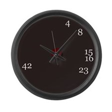 Cute Numbers lost Large Wall Clock