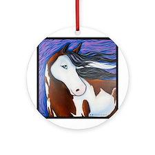 """Paint Horse """"Luna"""" Ornament (Round)"""