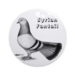 Syrian Fantail Pigeon Ornament (Round)