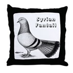 Syrian Fantail Pigeon Throw Pillow