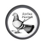 Syrian Fantail Pigeon Wall Clock