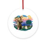 St Francis #2 / Pomeranian (#1) Ornament (Round)