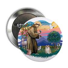 "St Francis #2 / Pomeranian (#1) 2.25"" Button"