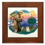 St Francis #2 / Pomeranian (#1) Framed Tile