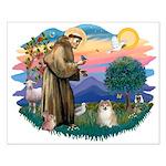 St Francis #2 / Pomeranian (#1) Small Poster