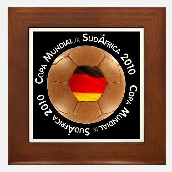 Cute Germany soccer 2010 Framed Tile