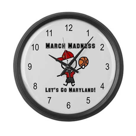 March Madness UMD Large Wall Clock
