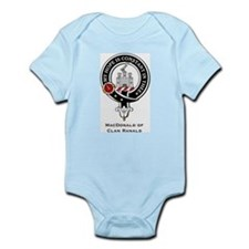 MacDonald Clan Ranald Crest Infant Creeper