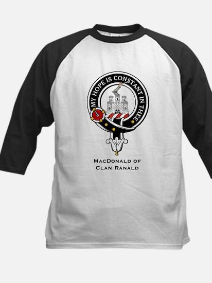 MacDonald Clan Ranald Crest Kids Baseball Jersey
