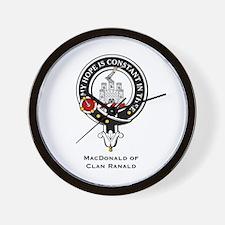 MacDonald Clan Ranald Crest Wall Clock