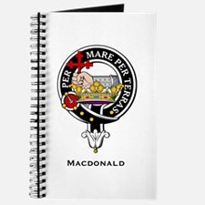 MacDonald Clan Crest Badge Journal