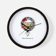 MacDonald Clan Crest Badge Wall Clock