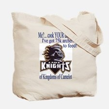 Lady Knight 2-sided Battle Plans tote bag