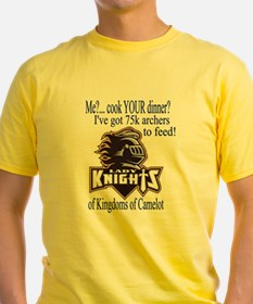 Lady Knights: Me?..Cook dinner? 2-sided T-shirt