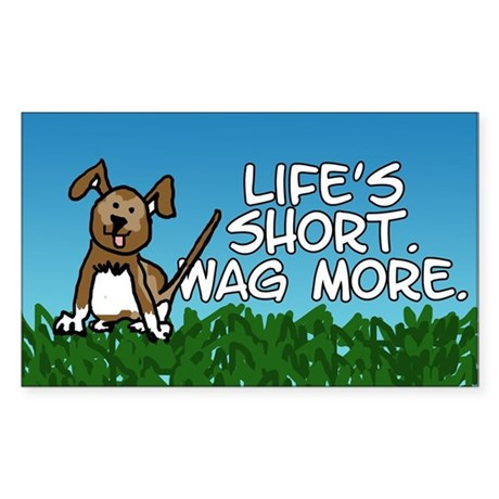 Wag More Sticker (Rectangle)