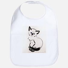 Siamese Cat Art Bib