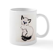 Siamese Cat Art Small Mug