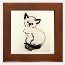 Siamese Cat Art Framed Tile