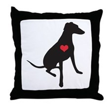 Lurcher/Greyhound/Whippet love - Throw Pillow