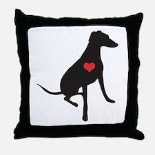 Lurcher/Greyhound/Whippet love - Throw Pillow