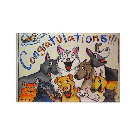 Congratulations! Rectangle Magnet (10 pack)