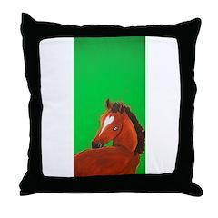 Thoroughbred Horse Throw Pillow