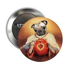 "Pug Sacred Heart 2.25"" Button"