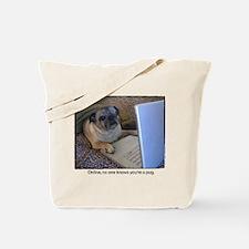 Online Pug Tote Bag