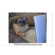 Online Pug Postcards (Package of 8)