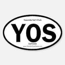 Yosemite Oval Decal