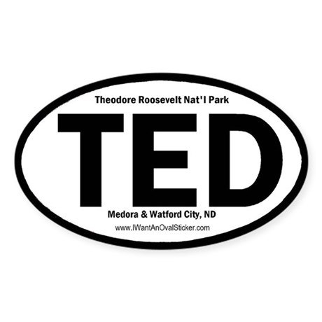 T. Roosevelt Oval Sticker