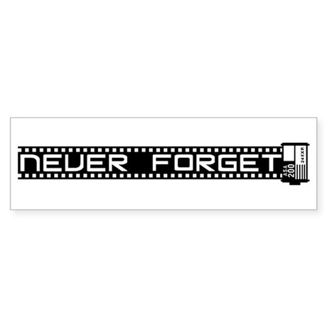 WTD: Never Forget (film) Sticker (Bumper)