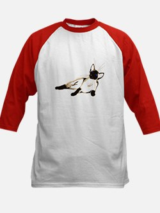 Laid Back Siamese Kids Baseball Jersey