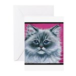 Ragdoll Cat Greeting Cards (Pk of 10)