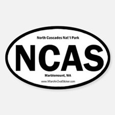 North Cascades Oval Decal