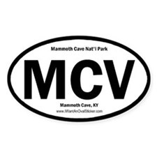 Mammoth Cave Oval Stickers