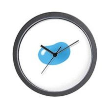 just blue jellybean Wall Clock