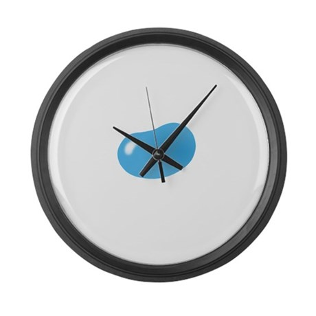 just blue jellybean Large Wall Clock