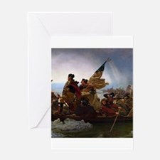 Washington Crossing the Delaware E Greeting Cards