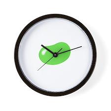 just green jellybean Wall Clock