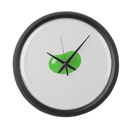 just green jellybean Large Wall Clock
