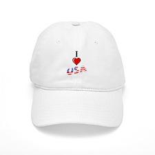 I Love USA Baseball Cap