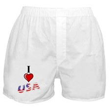 I Love USA Boxer Shorts