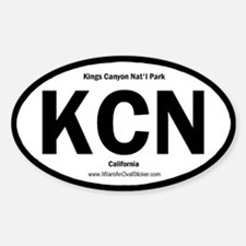 Kings Canyon Oval Decal