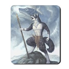 Storm Howler Wolf Mousepad