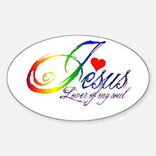 Jesus Lover of my soul primar Sticker (Oval)