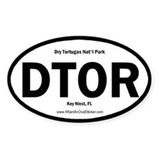 Dry Tortugas Oval Decal